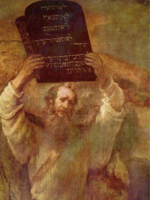 'Moses mit den Gesetzestafeln', 1659, Rembrandt Harmensz van Rijn