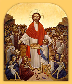 'Christ feeding the multitude'