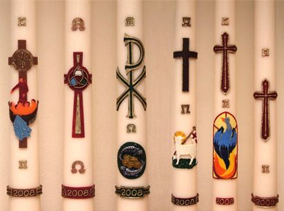'Some Paschal candles (Holland)', 2008, WaxArtStudio