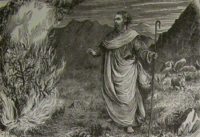 'Moses and the Burning Bush', 1890, illustrators of the 1890 Holman Bible