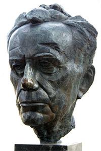 'Bust of Paul Johannes Tillich' by James Rosati in New Harmony, Indiana, U.S.A., 2008, Richard Keeling
