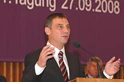 Dekan Dr. Volker Jung erläuterte seine Ziele