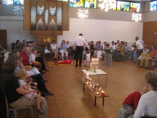 Kleinkindergottesdienst im Kirchsaal Süd