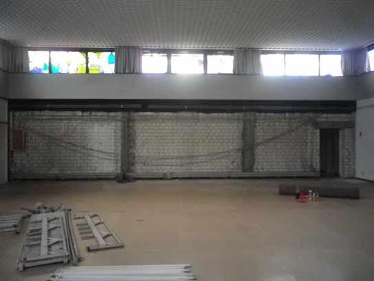 Ausräumen des Gemeindezentrums