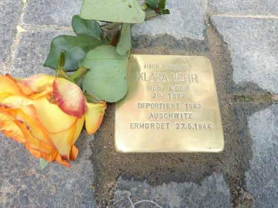 Stolpersteinverlegung für Klara Lehr am 4. Juni 2012