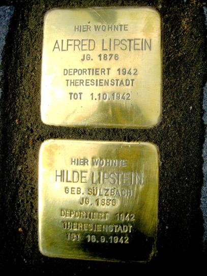 Stolpersteine Alfred und Hilde Lipstein