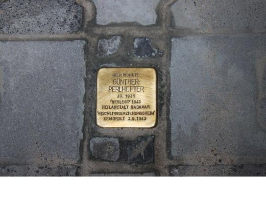 Stolpersteinverlegung für Günther Perlhefter