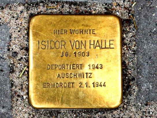 Stolpersteinverlegung für Isidor von Halle