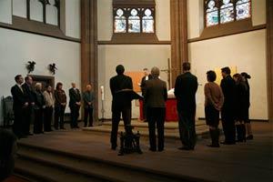 Die Verabschiedung des alten Kirchenvorstands am 1. November 2009 in der Dreikönigskirche