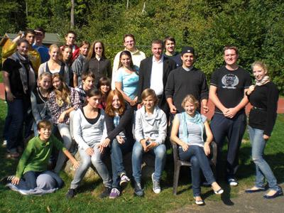 Nachwuchsmitarbeiter beim Jugendteamwochenende vom 25. bis 27. September 09
