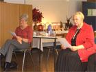 'Die Seele baumeln lassen' - Erzählungen von Frau Geldner und Frau Huhn am 07. November 2008
